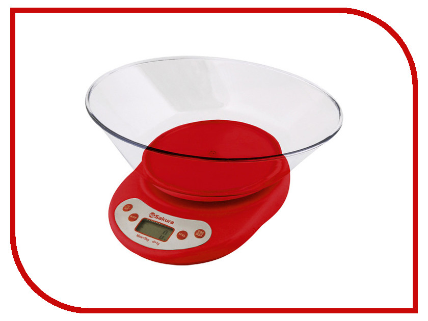 Весы Sakura SA-6054 Red