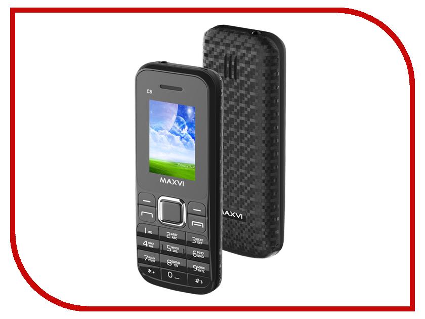 Сотовый телефон Maxvi C8 Black аксессуар чехол xiaomi redmi 4a zibelino classico red zcl xia rdm 4a red