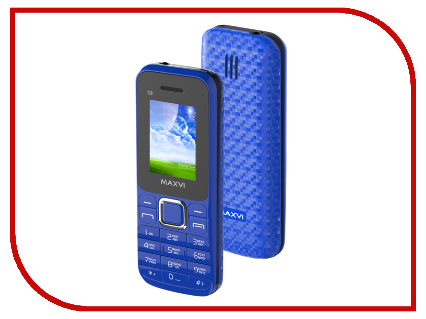 Сотовый телефон Maxvi C8 Blue сотовый телефон philips e311 xenium navy