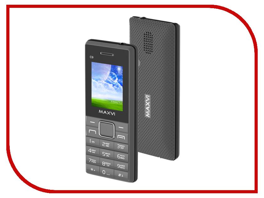 Сотовый телефон Maxvi C9 Grey-Black сотовый телефон maxvi c20 black