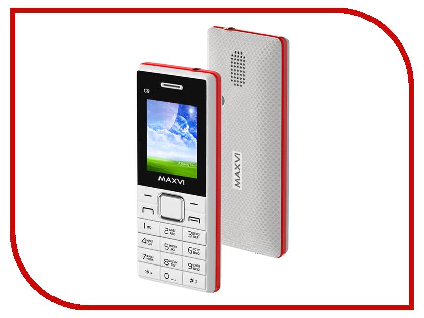 Сотовый телефон Maxvi C9 White-Red сотовый телефон maxvi v10 white