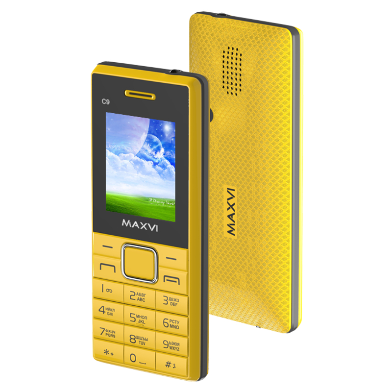 Сотовый телефон Maxvi C9 Yellow-Black цена