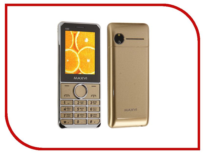 Сотовый телефон Maxvi X300 Gold мобильный телефон maxvi x300 gold