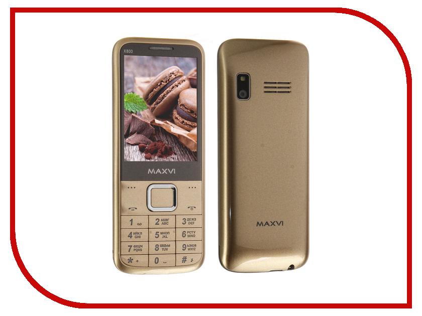 Сотовый телефон Maxvi X800 Gold gsm модуль для кпк eten x800