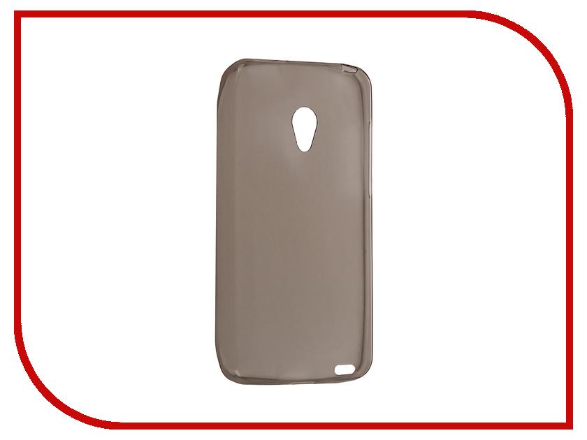 Аксессуар Чехол Meizu MX2 Krutoff Silicone Transparent-Black 10293