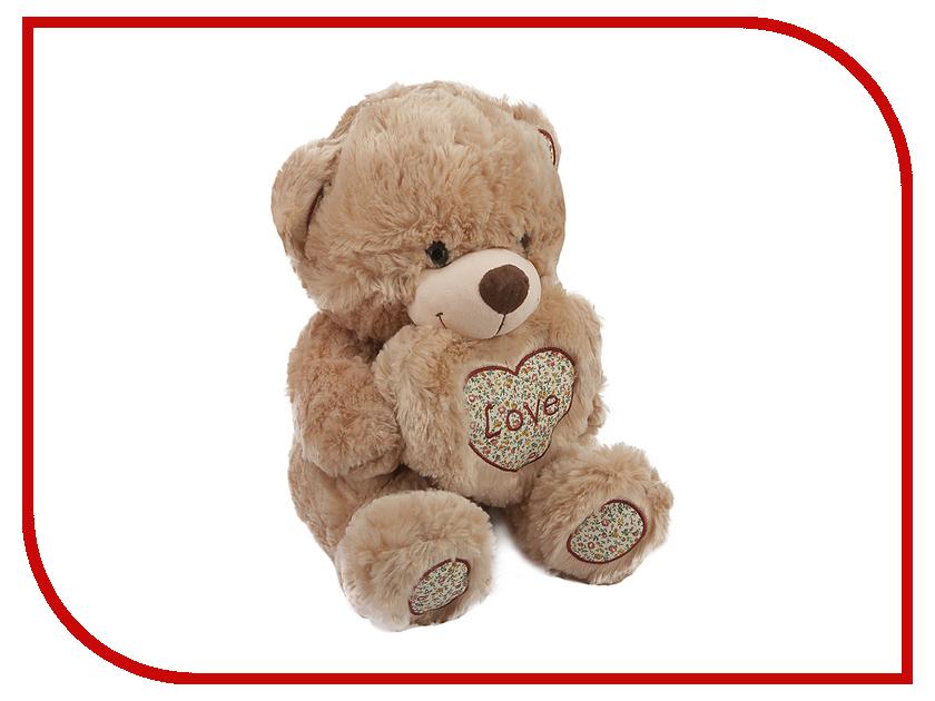 Игрушка антистресс Флиппер Мишка с сердцем Brown ФЛ622