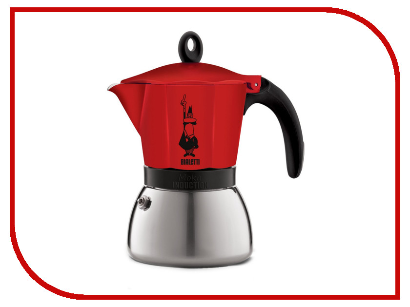Кофеварка Bialetti Moka Induction на 6 порций Red 4923