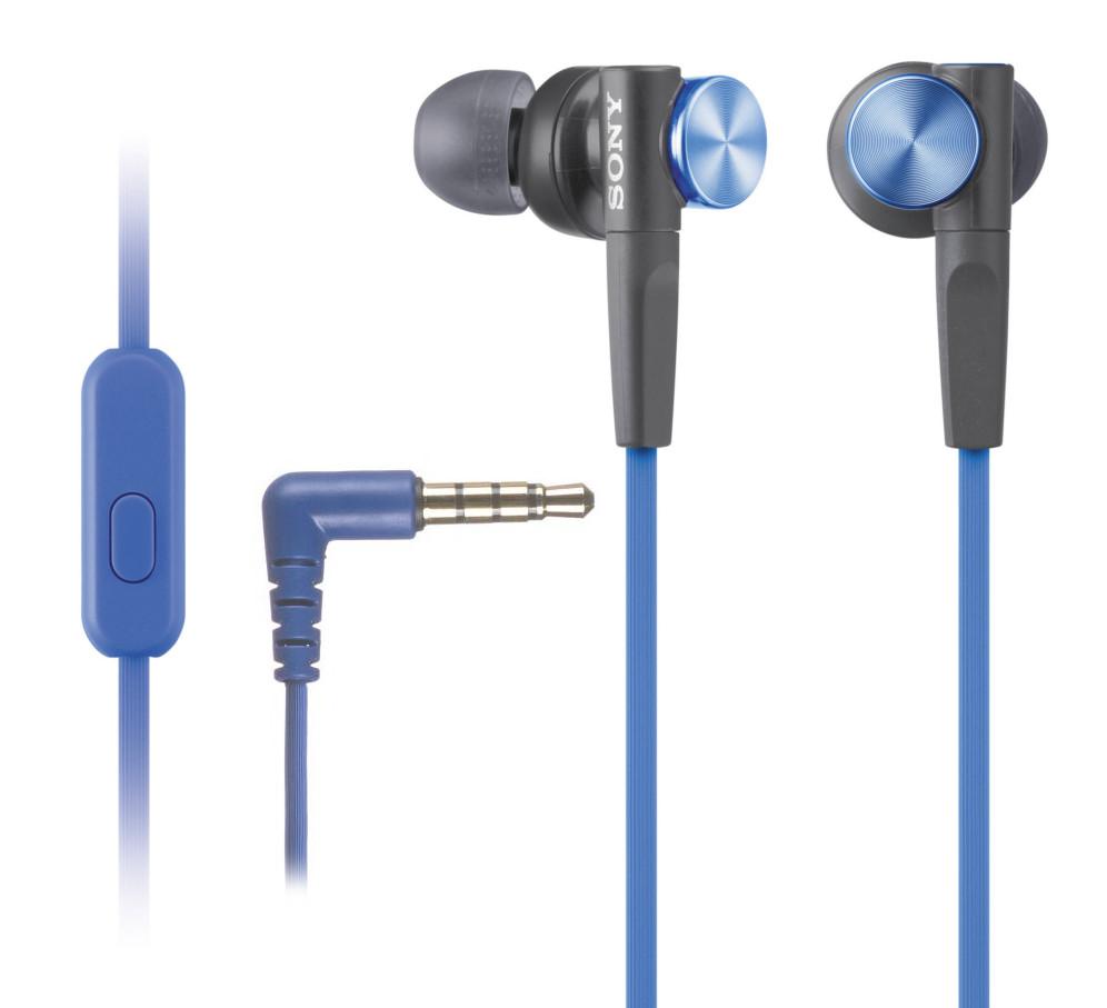 Sony MDR-XB50AP Blue гарнитура sony mdr xb50ap вкладыши черный проводные