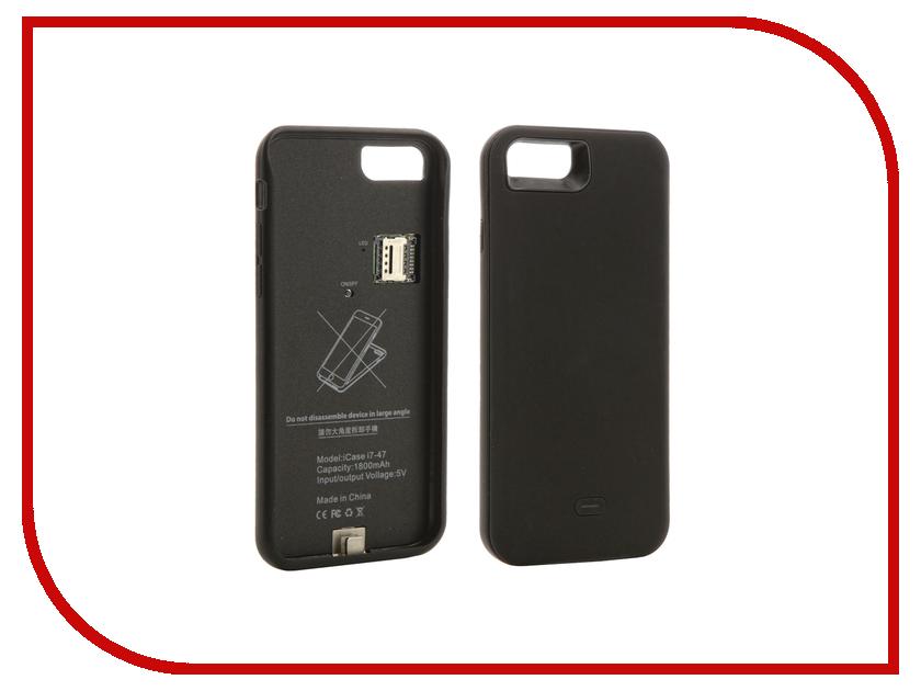 Аксессуар Чехол Apres для APPLE iPhone 7 Dual Sim Adapter + Ultra slim Battery Case 1800 mAh Black<br>