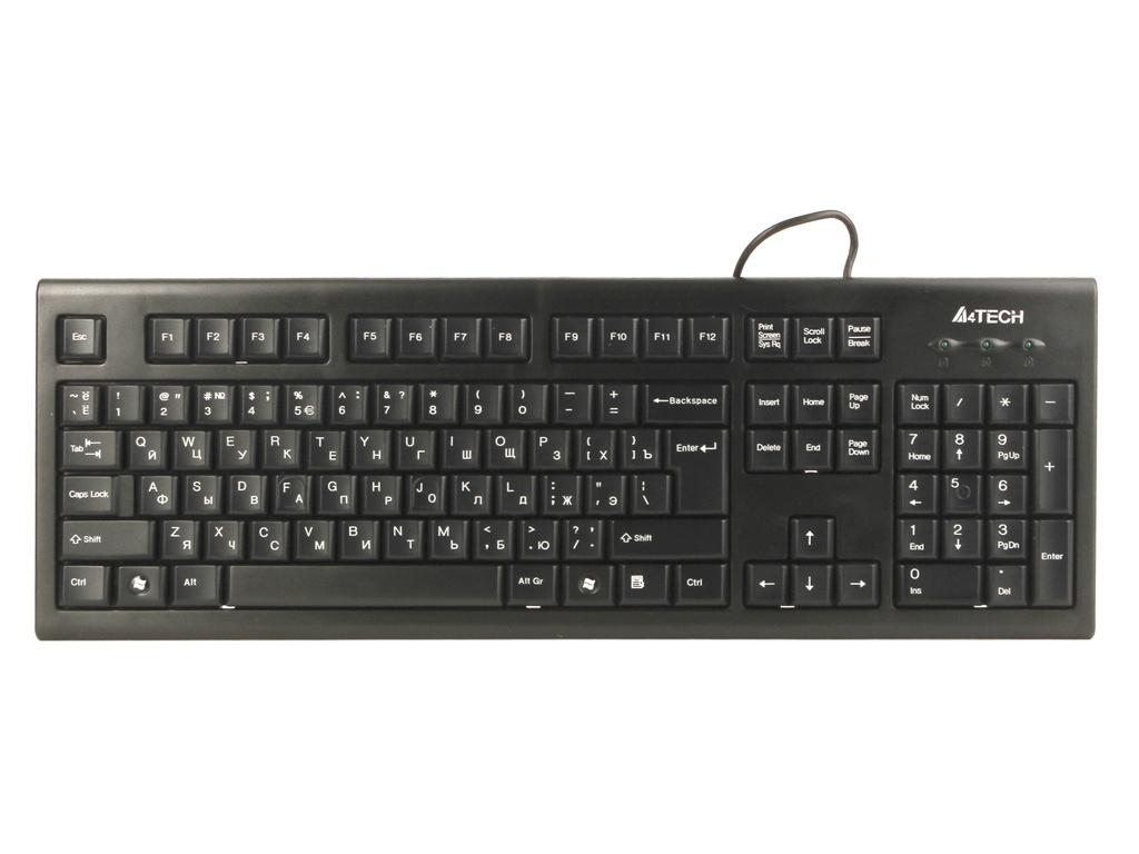 Клавиатура A4Tech KR-85 Black USB набор a4tech kr 8520d usb black