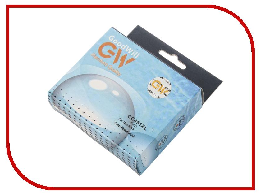Картридж GoodWill GW-CLI-451GY/XL Grey для Canon PIXMA iP7240/MG6340/MG5440) с чипом