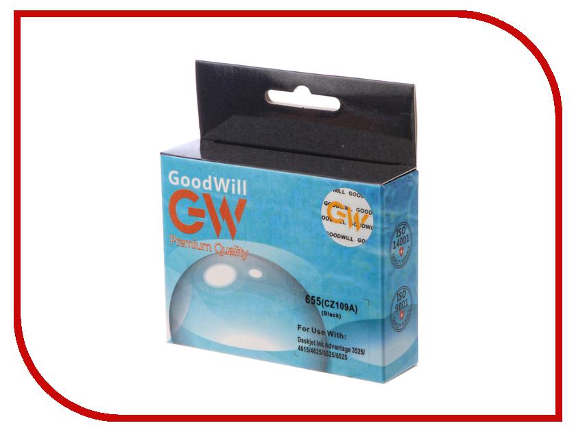 Картридж GoodWill GW-CZ109AE HP 655 Black для DJ IA 3525/5525/4515/4525 купить hp 655