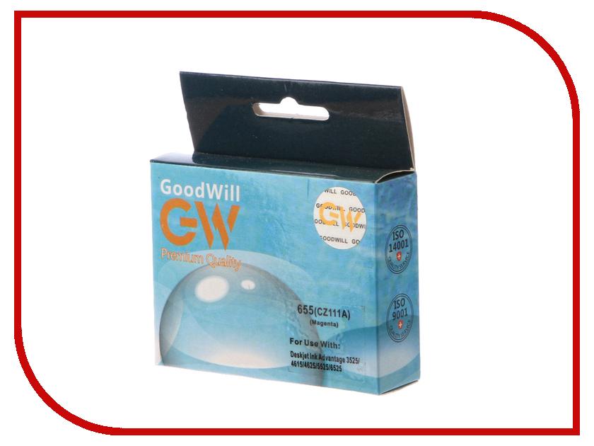 Картридж GoodWill GW-CZ111AE HP 655 Magenta для DJ IA 3525/5525/4515/4525 купить hp 655