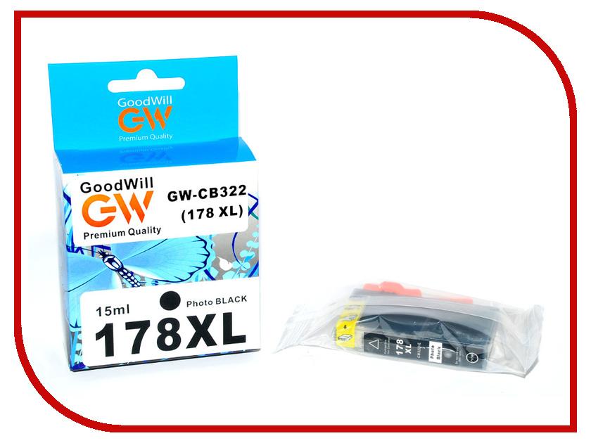 Картридж GoodWill GW-CB322 HP 178XL Photo Black для HP PhotoSmart B8553/C5383/C6383/D5463 15ml Compatible