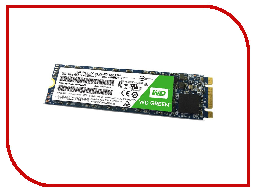 Жесткий диск 120Gb - Western Digital WD Green WDS120G1G0B
