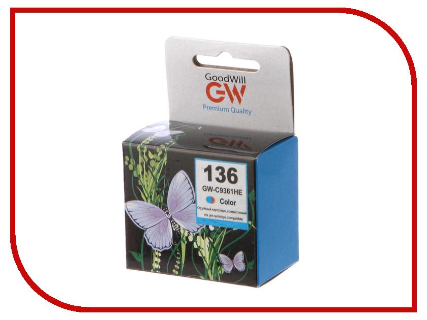 Картридж GoodWill GW-C9361H / GW-C9361HE HP 136 для DJ 5443/D4163/Officejet 6313/PSC 1513