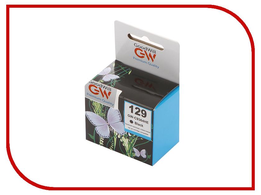 Картридж GoodWill GW-C9364H / GW-C9364HE HP 129 Black для HP PhotoSmart 8053/8753/5943/C4183 картридж goodwill gw c8767he 130 black для hp photosmart 2573 2613 2713 compatible