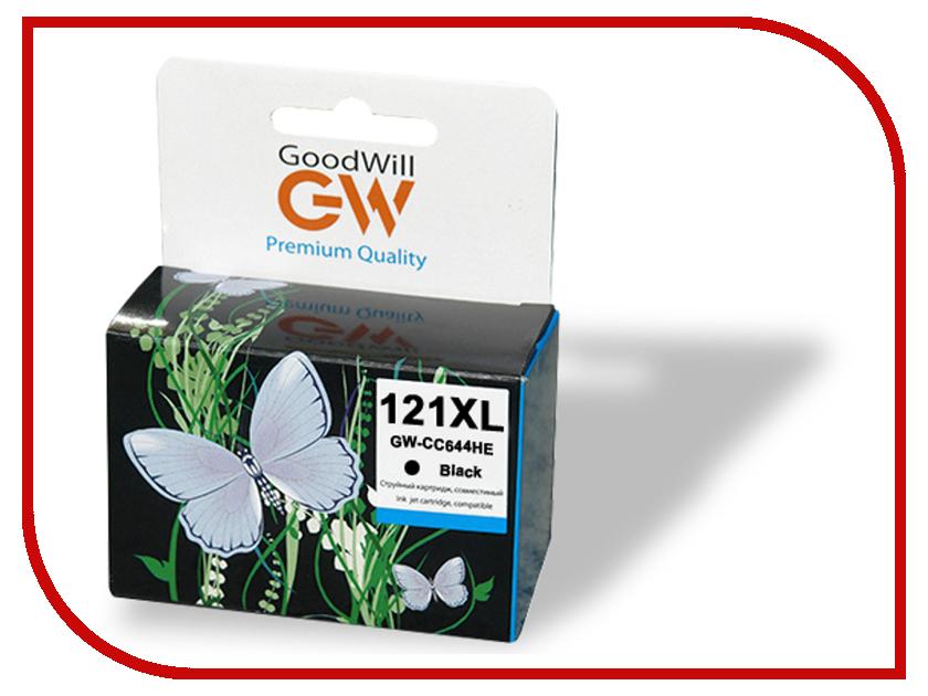 Картридж GoodWill GW-CC641H / GW-CC641HE HP 121XL Black для F4283/D2563<br>