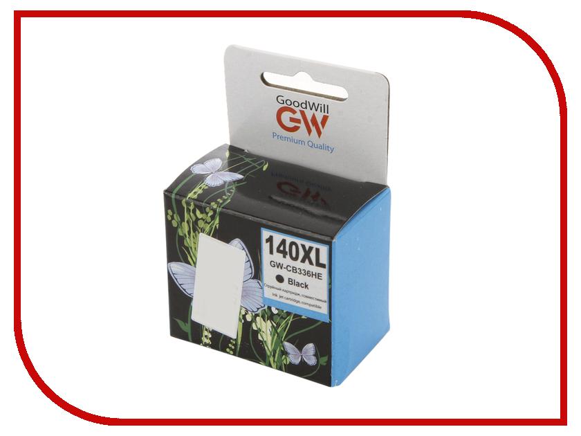Картридж GoodWill GW-CB336H / GW-CB336HE HP 140XL Black для DJ D4263 / D4363 / D5360 / J5783 / J6413 25ml