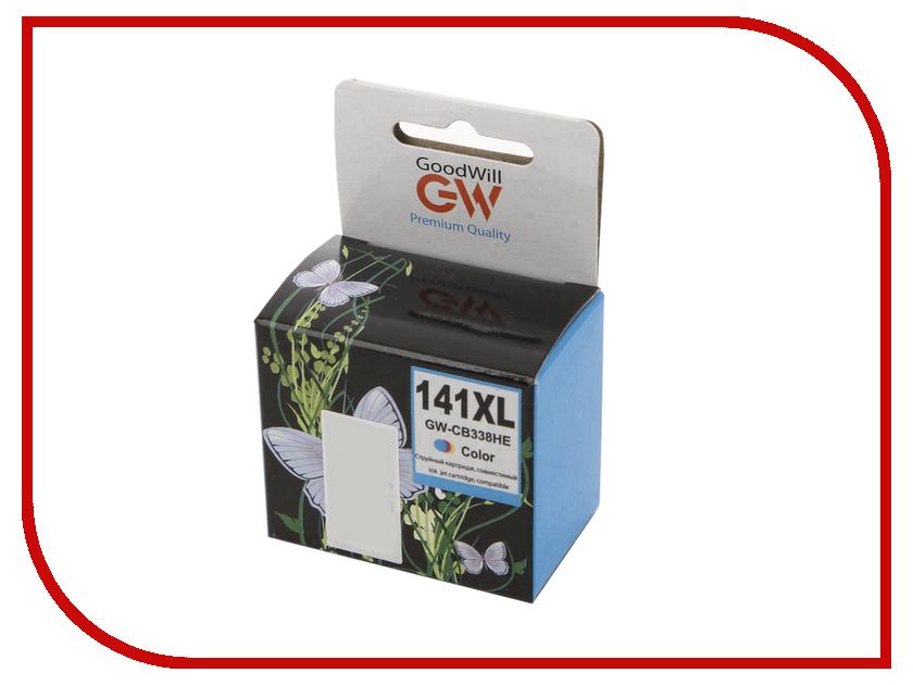 Картридж GoodWill GW-CB338H / GW-CB338HE HP 141XL Color для DJ D4263/D4363/D5360 14ml<br>