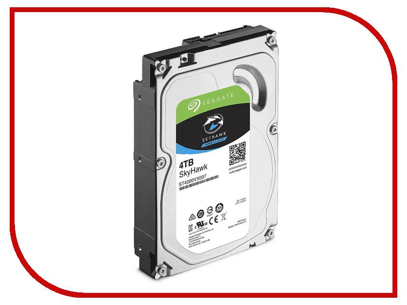 Жесткий диск 4Tb - Seagate SkyHawk ST4000VX007 жесткий диск 4tb seagate st4000vm000 video 3 5
