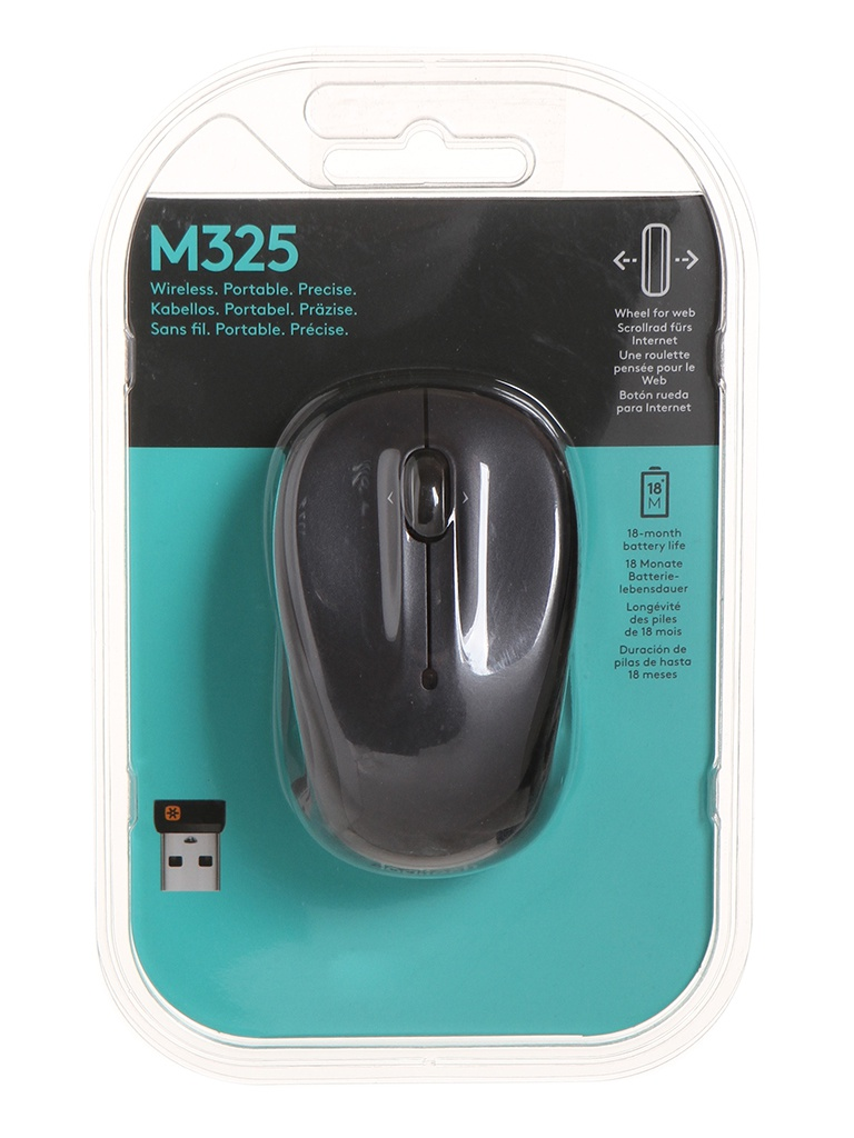 Мышь Logitech Wireless Mouse M325 Dark Grey USB недорого