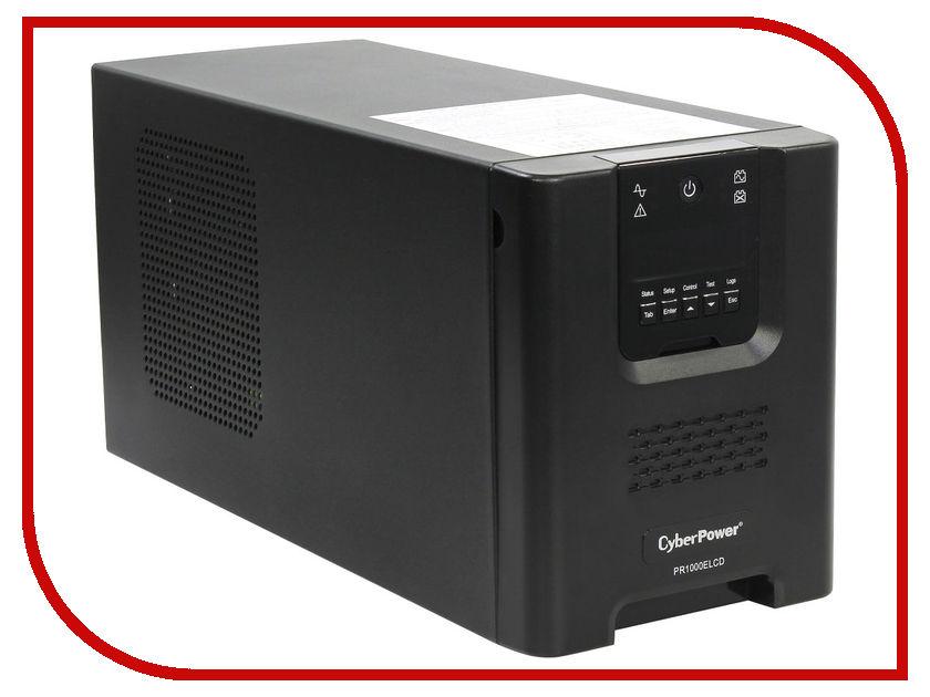 Источник бесперебойного питания CyberPower PR1000ELCD источник бесперебойного питания cyberpower bs850