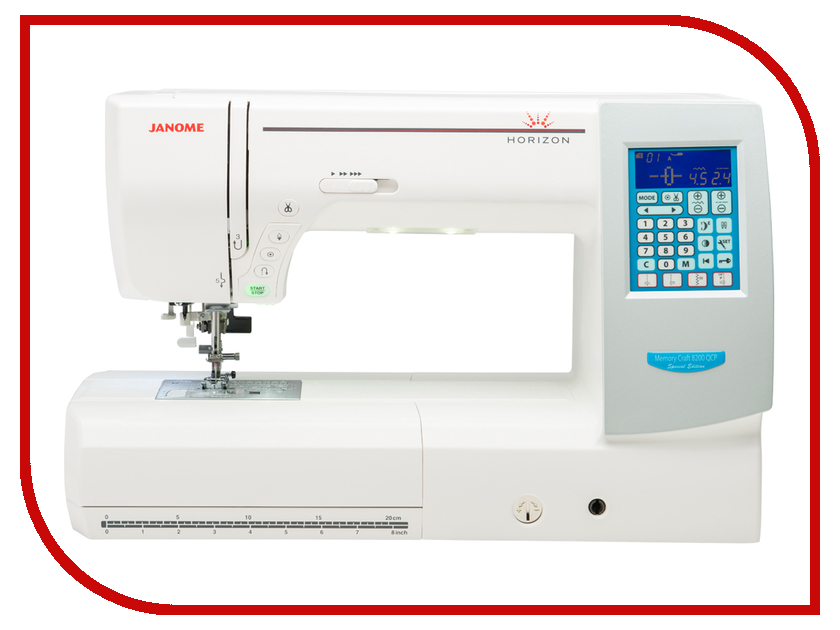 Швейная машинка Janome Memory Craft 8200 QC Horizon MC8200QCP  janome horizon memory craft 8200 qc