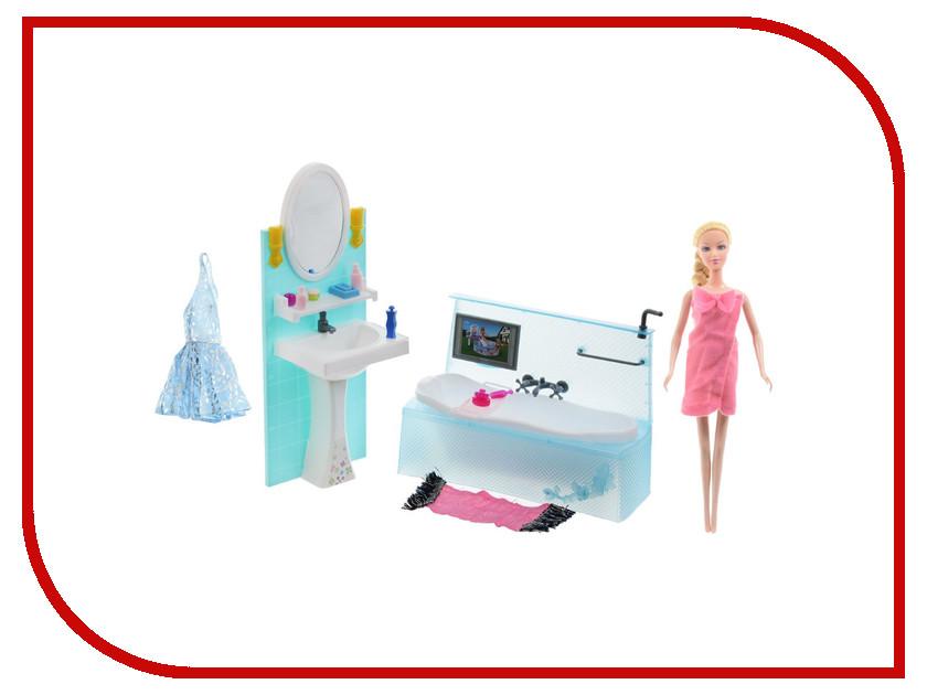Игра 1Toy Красотка набор мебели с куклой, ванная комната Т54501<br>