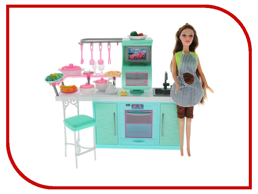 Игра 1Toy Красотка набор мебели с куклой, кухня Т54500<br>