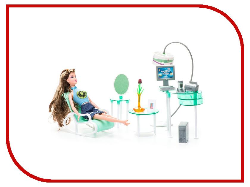 Игра 1Toy Красотка набор мебели с куклой, домашний офис Т54498<br>
