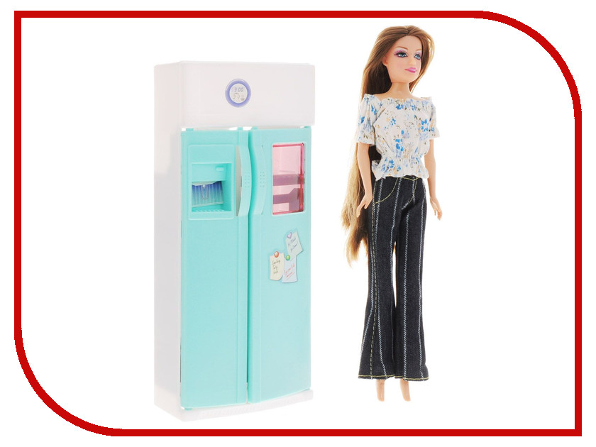 Игра 1Toy Красотка набор мебели с куклой, холодильник Т54496 1toy туалетный столик с куклой красотка