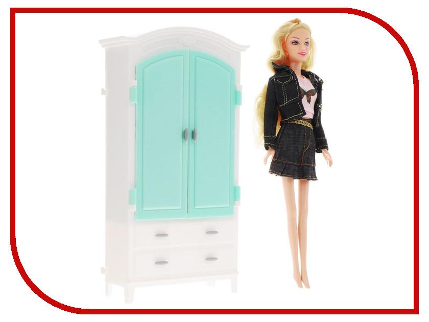 Игра 1Toy Красотка набор мебели с куклой, гардеробная Т54494<br>