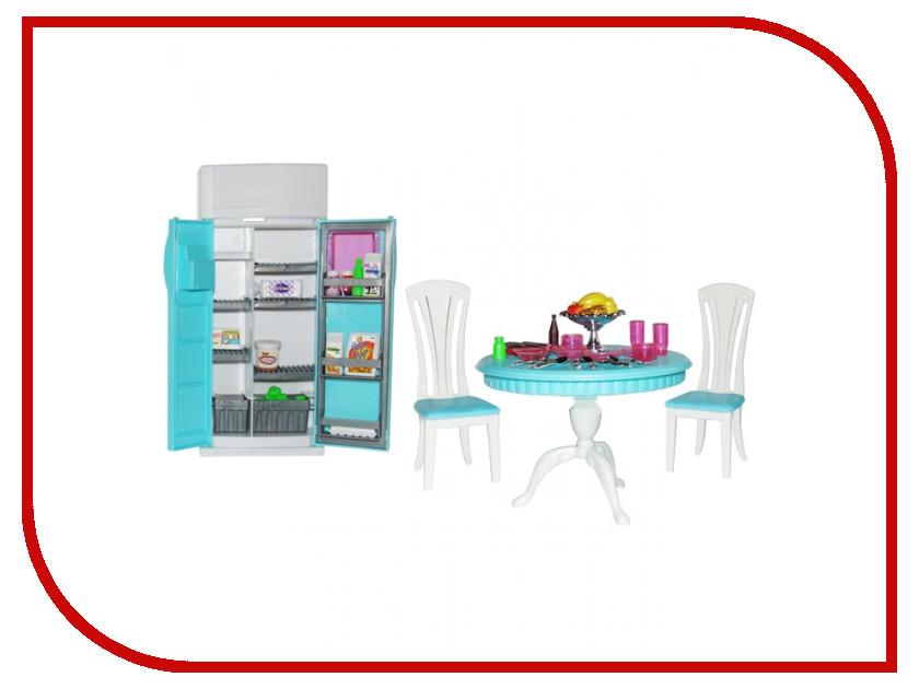 Игра 1Toy Красотка набор мебели для кукол, кухонный стол+холодильник Т52112<br>