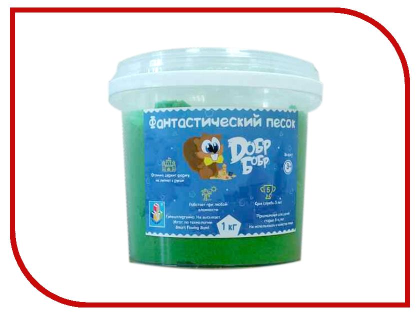 Набор для лепки Dобр Бобр Фантастический песок 1кг Green Т10265