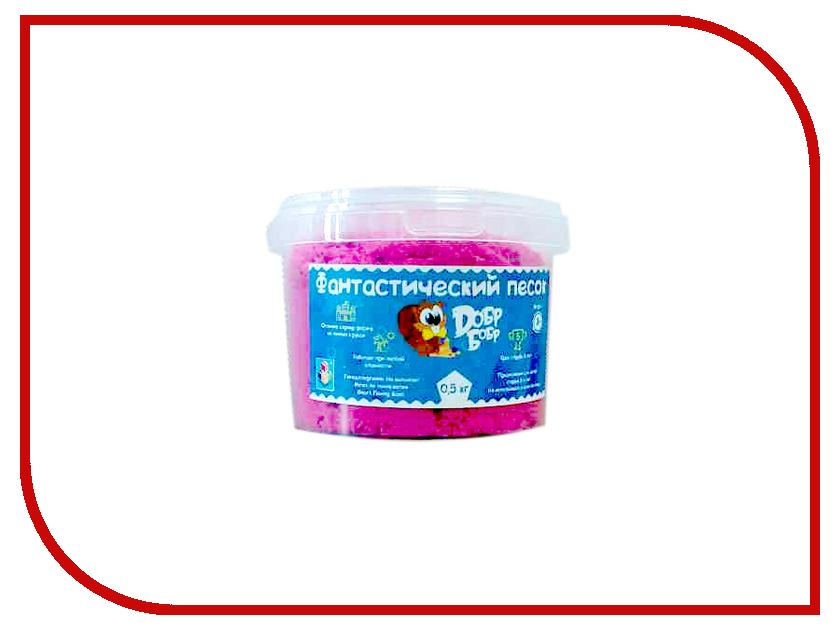 Набор для лепки Dобр Бобр Фантастический песок 0.5кг Pink Т10258<br>