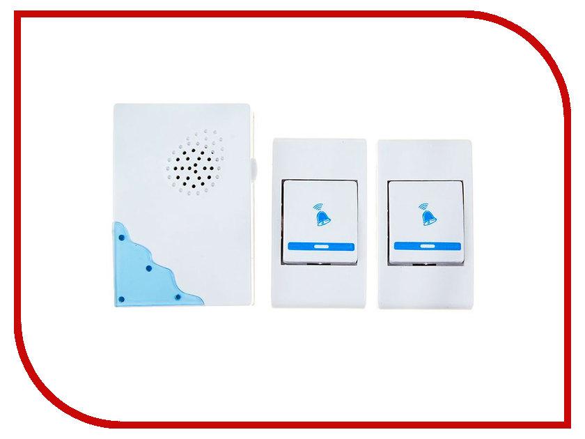 Звонок дверной Luazon LZDV-02-01 Blue 1516194 беспроводной<br>