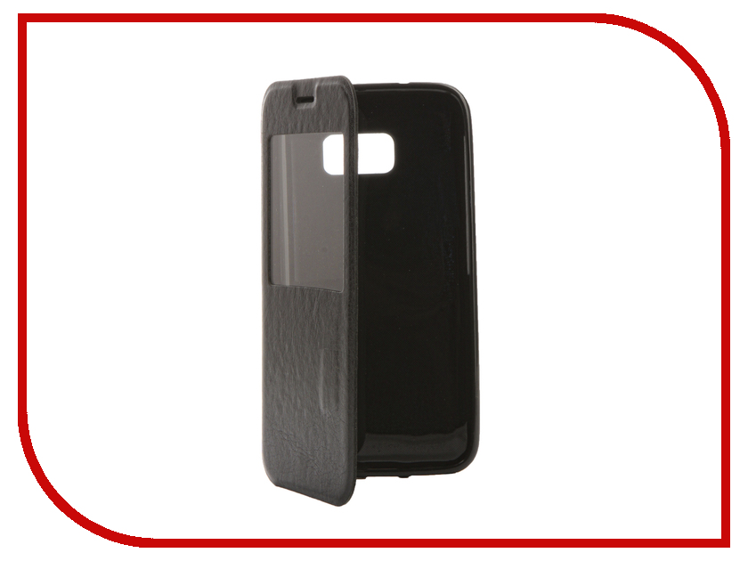 Аксессуар Чехол Samsung Galaxy S7 Cojess Book Case Time Black с окном Вид 2<br>