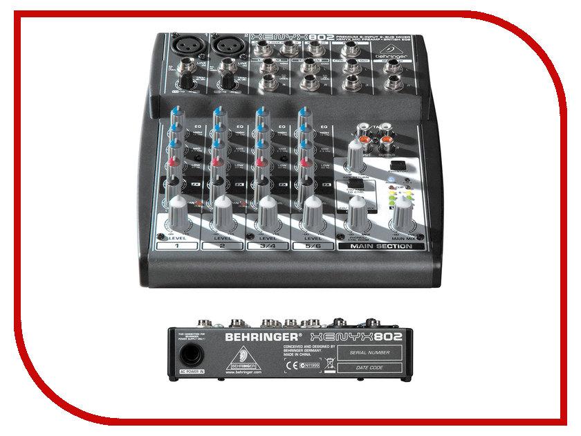 Пульт Behringer Xenyx 802 аналоговый микшер behringer xenyx x 1204usb