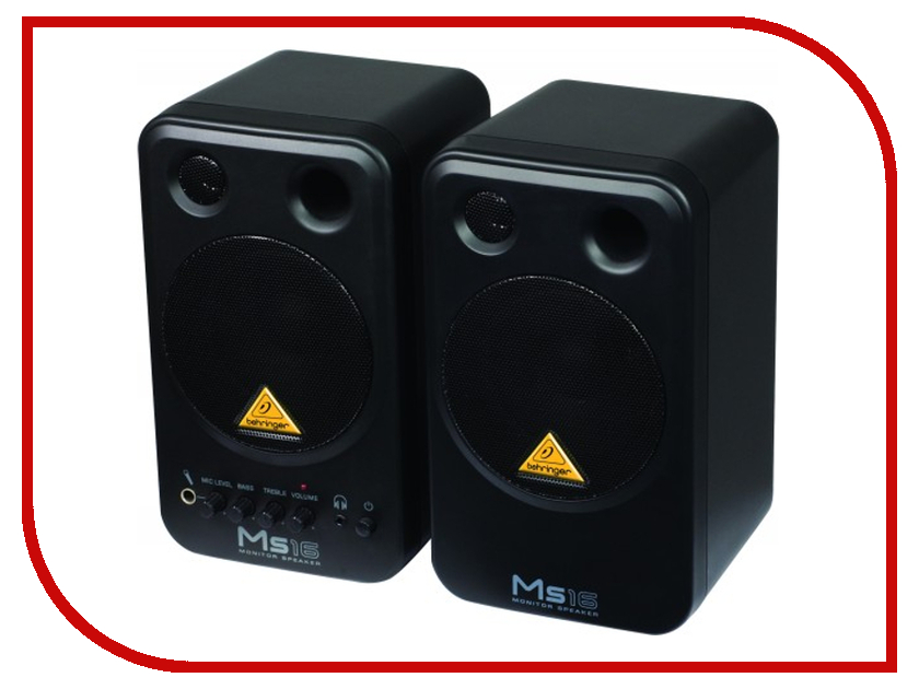 Колонка Behringer MS16 колонка behringer digital monitor speakers ms20