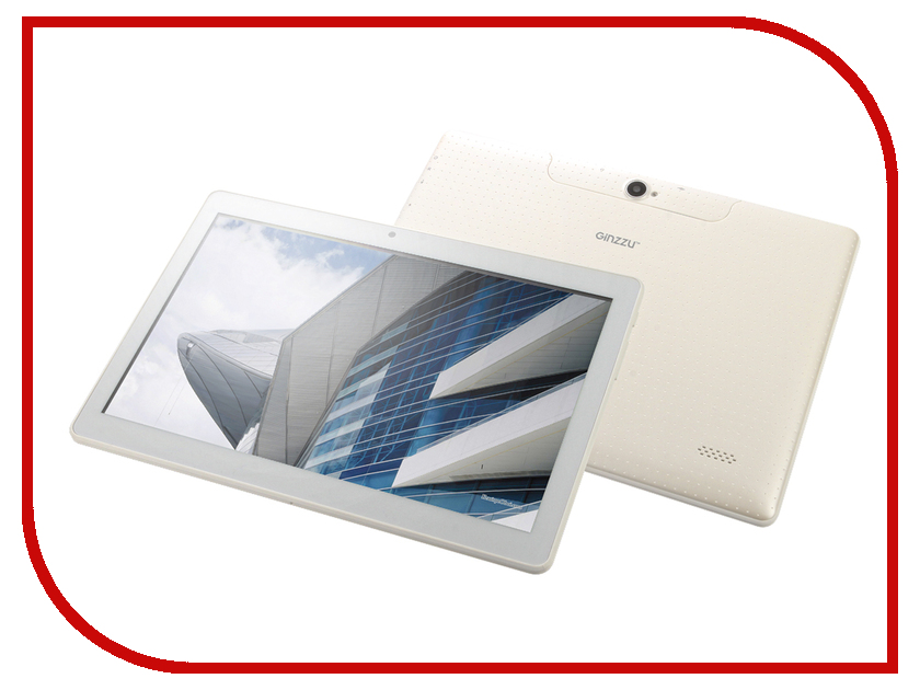 Планшет Ginzzu GT-1040 White Spreadtrum SC9832 1.3 GHz/1024Mb/16Gb/GPS/LTE/Wi-Fi/Bluetooth/Cam/10.1/1280x800/Android<br>