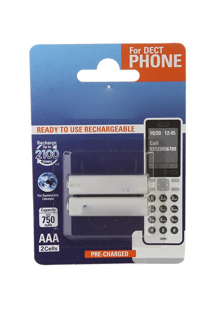 Аккумулятор AAA - Panasonic Eneloop 750 mAh (2 штуки) BK-4MCCE/2DE 84890 цена и фото