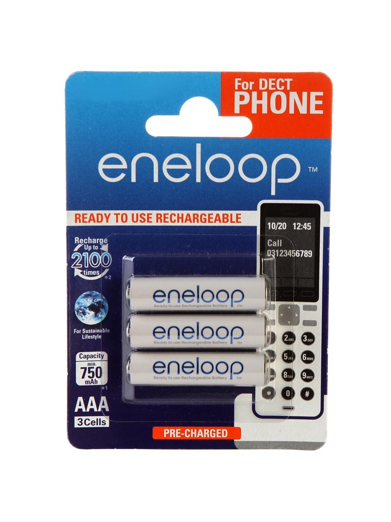 Аккумулятор AAA - Panasonic Eneloop 750 mAh (3 штуки) BK-4MCCE/3DE 84887