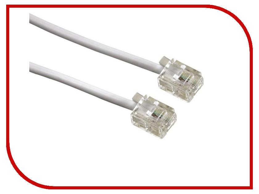 Аксессуар Greenconnect 6P4C/6P4C 5m White GCR-TP6P4C-5.0m