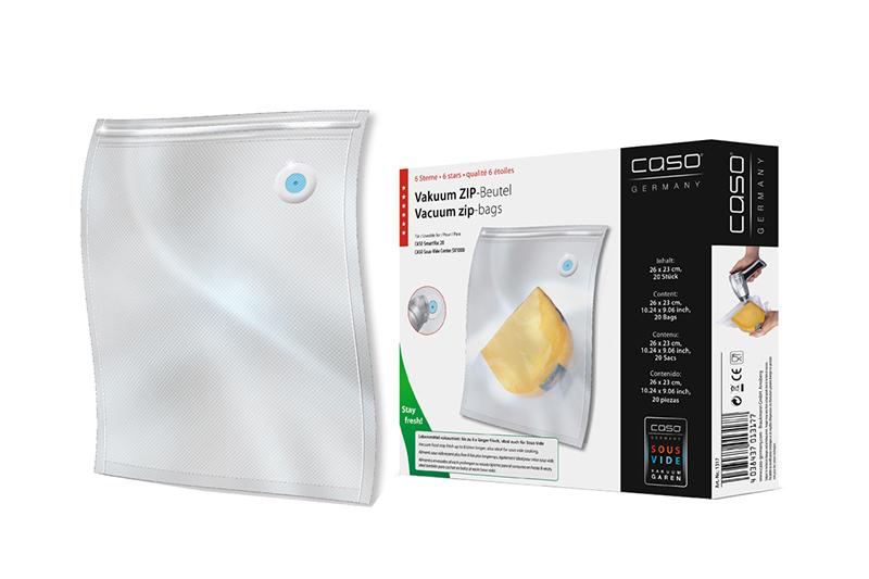 Вакуумные пакеты Caso Zip 26x23cm 20шт