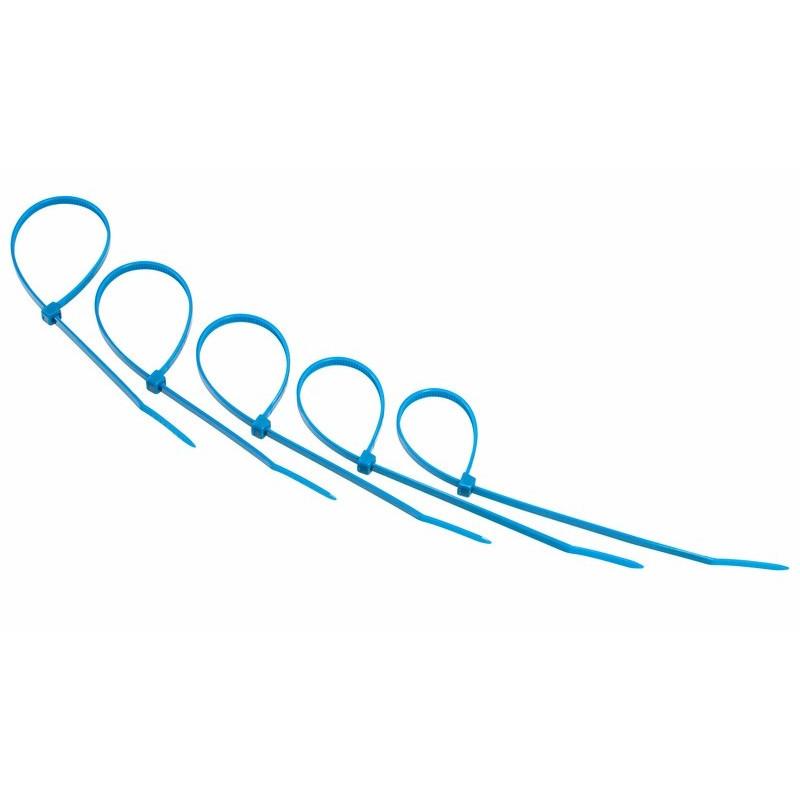 Стяжки нейлоновые Rexant 400x5.0mm (25шт) Blue 07-0405-25
