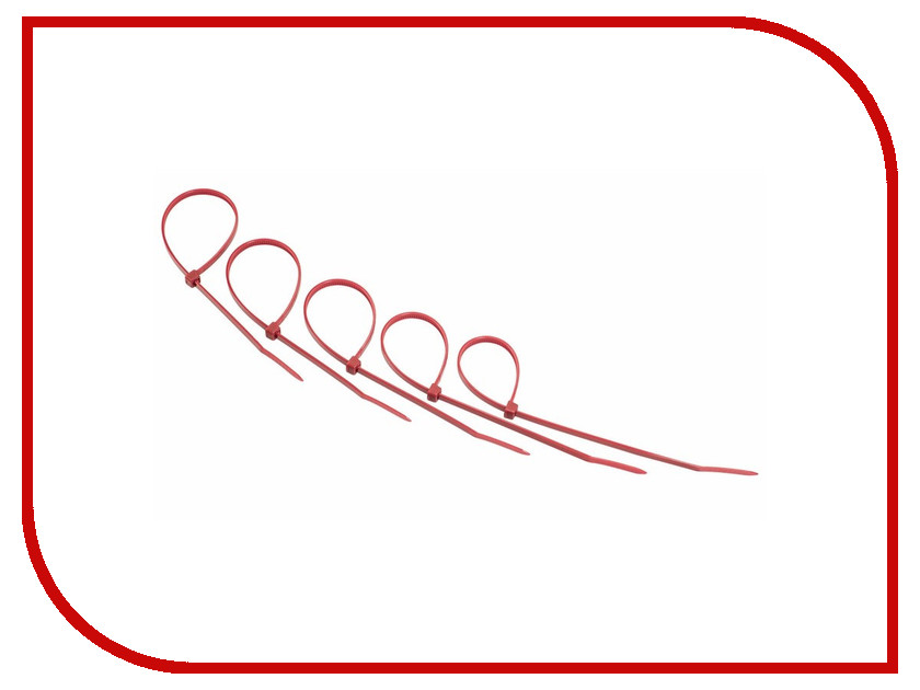 Стяжки нейлоновые Rexant 300x5.0mm (25шт) Red 07-0306-25