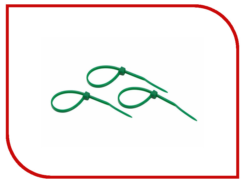 Стяжки нейлоновые Rexant 100x2.5mm (25шт) Green 07-0103-25
