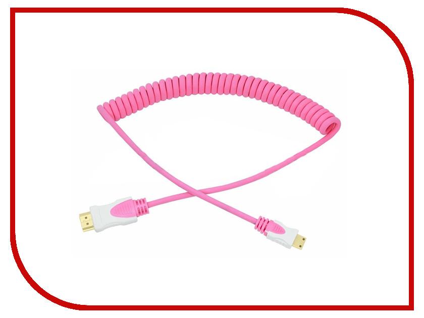 Аксессуар Rexant HDMI - Mini HDMI 2m Pink 17-7126