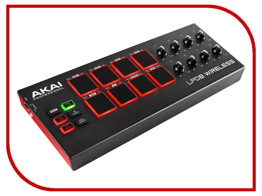 MIDI-контроллер AKAI Pro LPD8 WIRELESS akai pro ewm1
